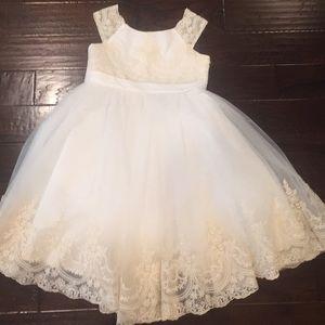 Junior Bridesmaid Dress/Tea Length Wedding Gown